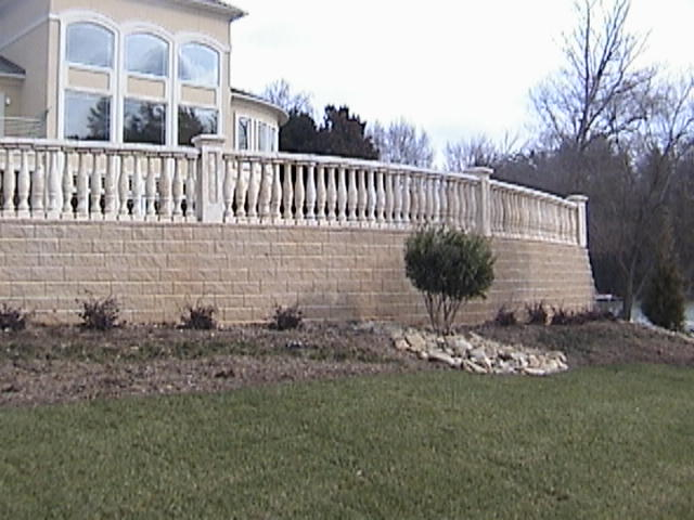 Cast Stone Balustrade System, Designed and Installed by Stoneman, Inc.