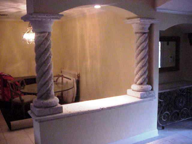 Stoneman inc, cast stone, 10 inch, rope columns