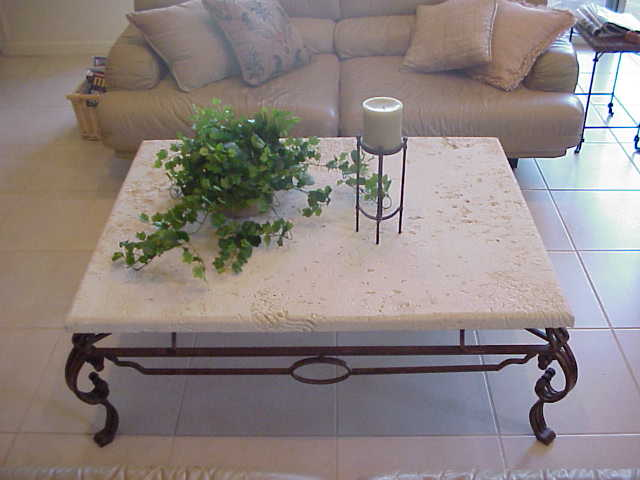 stoneman inc cast stone coffee table