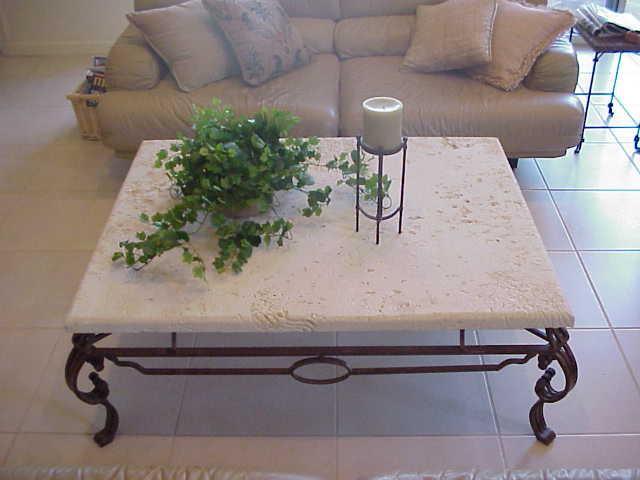 stoneman inc cast stone coffee table