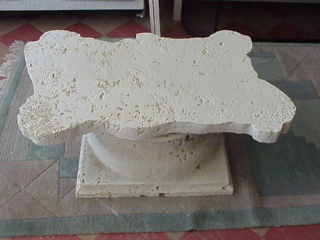 stoneman inc cast coral stone coffee table