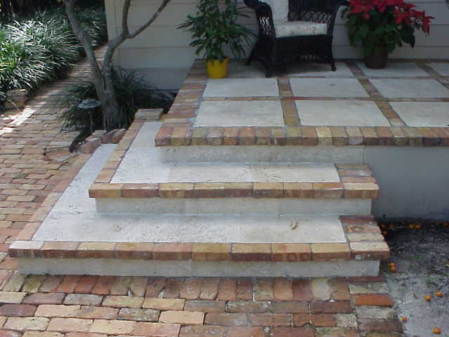 custom, cast coral stone, pavers, old chicago brick