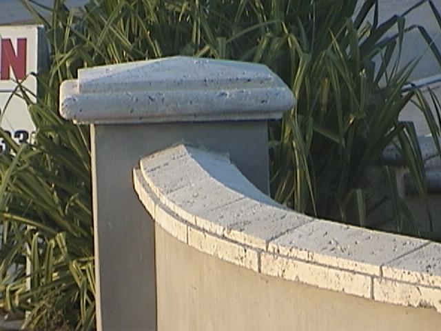 cast coral stone pier cap