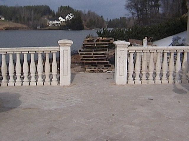 cast coral stone piers
