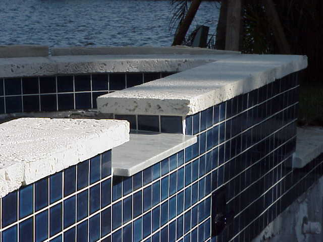 cast coral stone pool coping